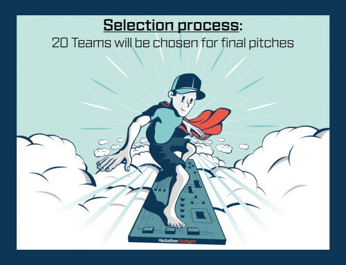 The selection process @ Hackathon Stuttgart 2018 – 20 teams will be allowed to pitch their projects